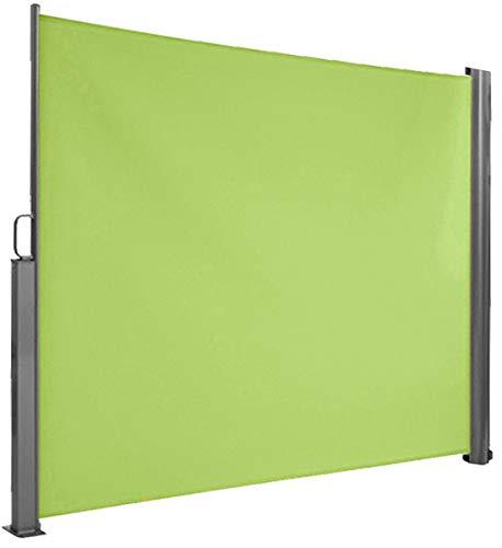 Brubaker Seitenmarkise Maui für Balkon und Terrasse - Ausziehbar - Aluminium - grün - 300 x 180 cm