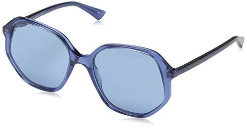 Gucci GG0258S Occhiali da Sole, Blu (Azul), 56 Donna