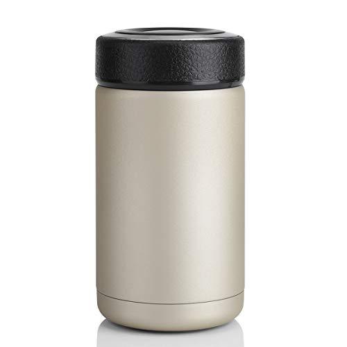 iFCOW Travel Mok, Roestvrij Staal Vacuüm Thermisch Geïsoleerde Reizen Mok Flesje Koffie Cup Champagne