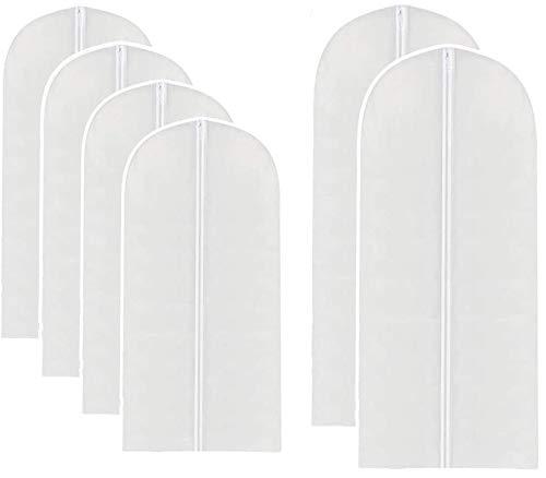 Set de 6 Portatrajes, Protector de ropa colgante Anti-Polvo e impermeable, el cual incluye 4 Fundas con cremallera para Trajes y Camisas ( 60 X 100 cm), y 2 Fundas con cremallera...