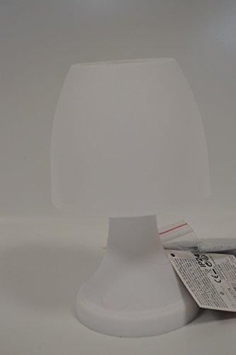 Lampe à poser Led 19 cm interieur ou extérieur - Blanc