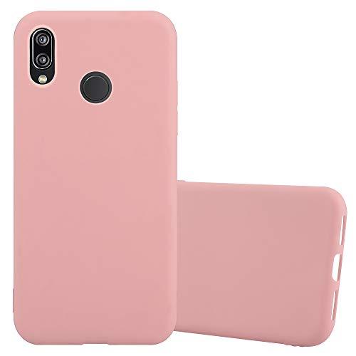 Cadorabo Hülle für Huawei P20 LITE in Candy ROSA - Handyhülle aus flexiblem TPU Silikon - Silikonhülle Schutzhülle Ultra Slim Soft Back Cover Case Bumper