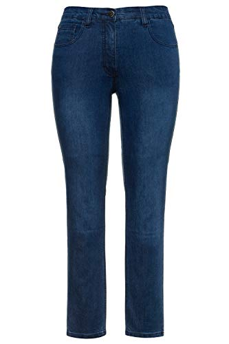 Ulla Popken Damen Sarah, 5-Pocket, Stretch, schmales Bein Skinny Jeans, Blau (Bleached 92), (Herstellergröße:62)