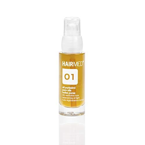 HAIRMED - O1 Öl für trockenes Haar - Sofortiger Glanz, für glattes, seidiges Haar, mit Argan-, Macadamia- und Jojobaöl - 30 ml