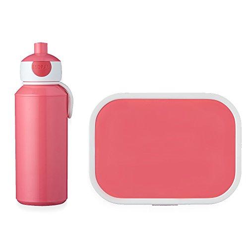 Mepal Lunchset (Pop-up Trinkflasche und Brotdose) -Rose Pausenset Campus, ABS, 0 mm, 2
