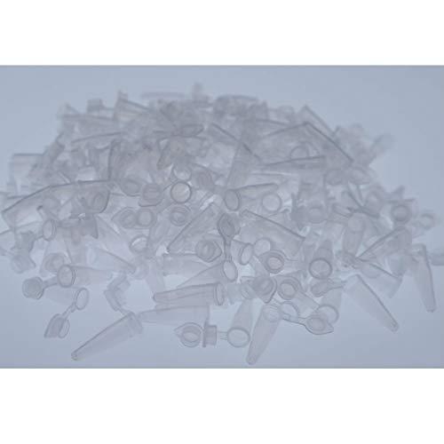 Aysekone 200 Stück 0,2 ml unsterile Plastikröhrchen EP Probenröhrchen Aufbewahrungsbehälter Zentrifuge Mikrozentrifuge Röhrchen Polypropylen graduiert mit Schnappverschluss