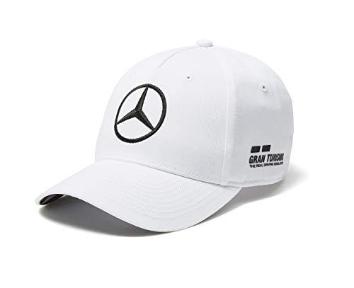 Mercedes AMG F1 Team Driver Puma Hamilton Baseball Gorra Blanco Oficial 2018