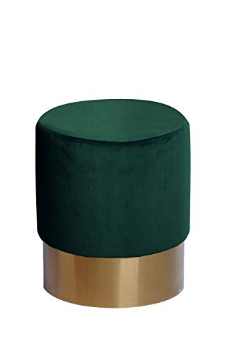 Samt Hocker Pouf Velvet Retro Sitzhocker Polsterhocker Gold Grün Dunkelgrün