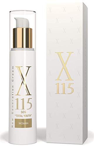 Crema Antiarrugas Mujer | Hidratante | 50 ml | X115® New Generation Cream| Vitamina C, Ácido hialurónico, Colágeno | EFECTO LIFTING | Redensificante Y Antioxidante