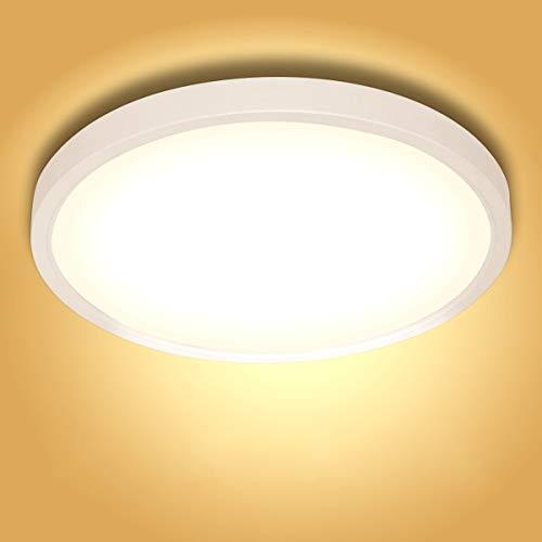 20W LED Deckenleuchte Klein, bapro φ17cm Deckenlampe Bad 890LM 3000K Warmweiß Mordern Badezimmerlampe für Badezimmer Küche Wohnzimmer Balkon Flur Schlafzimmer Büro