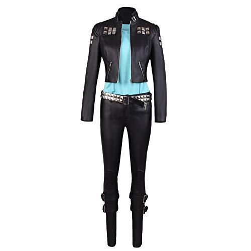 COSEASY Promare - Disfraz de Lio Fotia Mad Burnish para Cosplay, Disfraz de Halloween, Conjunto Completo de Uniforme de Piel - Negro - Small