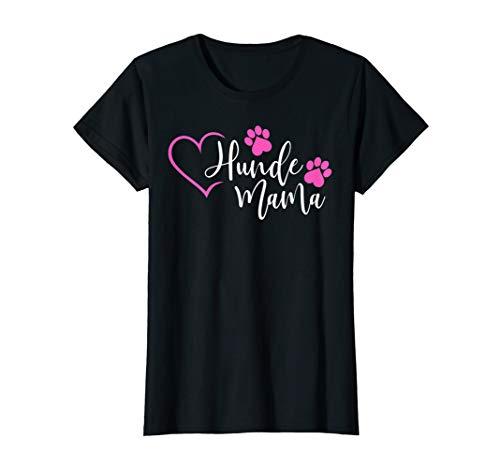 Damen Hundemama T-Shirt Hunde Mama Frauchen Hund