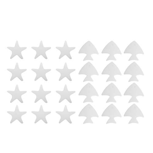 Cabilock 24 Piezas de Pegatinas Antideslizantes para Bañera Pegatinas Antideslizantes para Estrella de Mar Pegatinas Antideslizantes para Ducha Adhesivos de Seguridad para Baño...