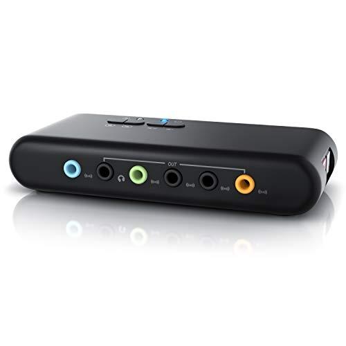 CSL - Tarjeta de Sonido USB 7.1 Externa 8 Canales - Canal 7.1 USB Soundbox - Dynamic 3D Surround Sound - para hasta 8 Altavoces - grabación reproducción simultánea - para Audio analógicos y Digitales