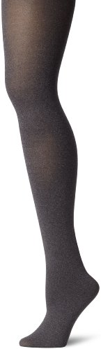 Hue Women's Super Opaque Tights with Control Top, Graphite Heather, 3