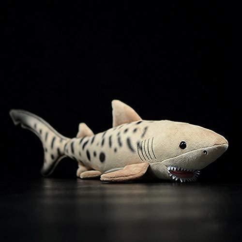 MQJ 52 cm Lang Weiche Echtes Life Tiger Shark Plüsch Spielzeug Lebensechte Marine Tier Bullhead Shark Plüschtier Geburtstagsgeschenk Für Kinder,Tigerhai.