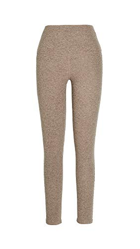 Beyond Yoga Women's Spacedye Walk and Talk Leggings, Mocha Latte, Brown, Tan, Small