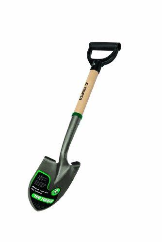 Truper 31196 Tru Tough 19-Inch Short D-Handle Round Point Shovel, 19-Inch Wood