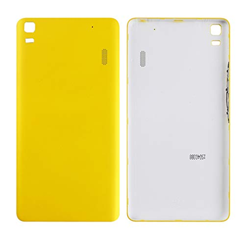 Liluyao Mobile parts For Lenovo A7000 Battery Back Cover(Black) (Color : Yellow)