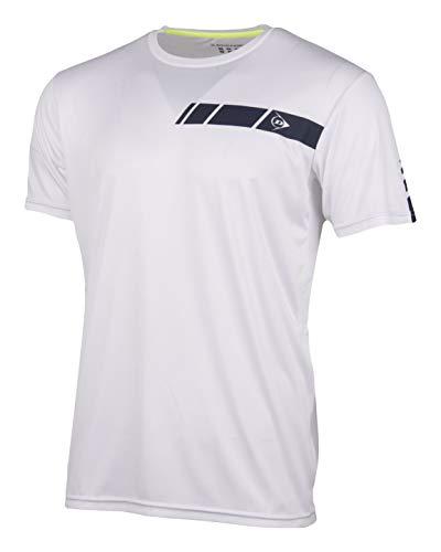 Dunlop Herren Club Line Men - Crew Tee, White, M