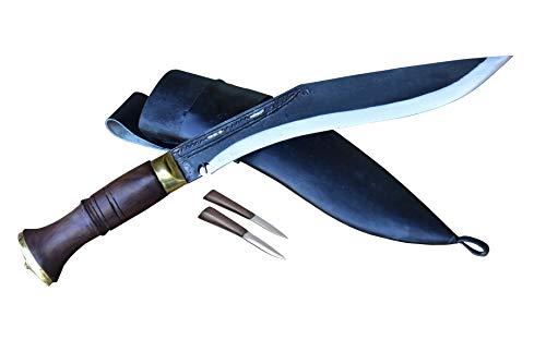 GK&CO. Kukri House Genuine Kukri/Khukri Knife - 10' Black Blade (Rust...