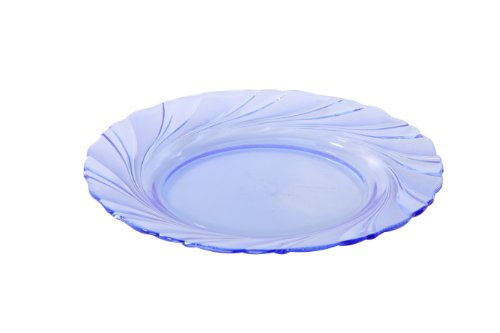 Duralex Beau Rivage 3003BF06A111 - Juego de 6 platos llanos (cristal, 19,5 cm), color azul