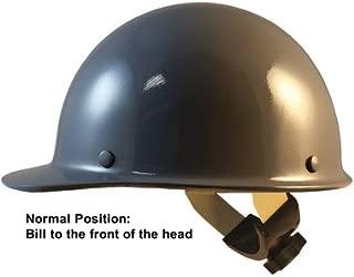 MSA Skull Guard Hard Hat - Fiberglass Cap Style With Swing Suspension - Custom Gray Color