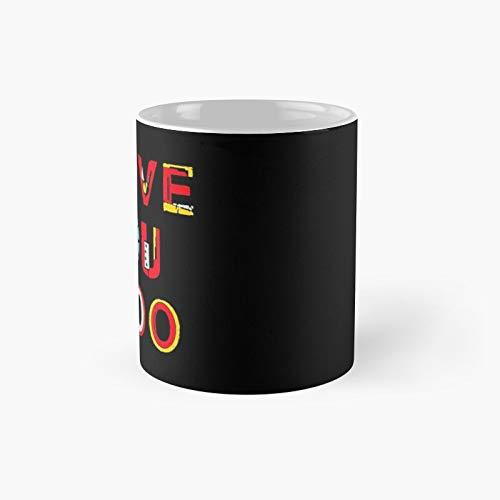 Taza clásica I Love You 3000 V2 | El mejor regalo divertidas tazas de café de 325 ml