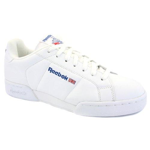 Reebok NPC II Herren Klassische Schnürschuhe aus Leder, Weiß – 12 UK