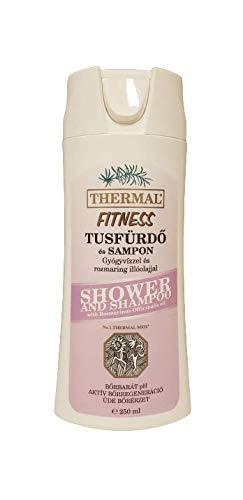 Fitness Gel de Ducha y Champú de Thermal Heil Agua Con Romero Y mentol, para todo y los tipos de cabello 250ml