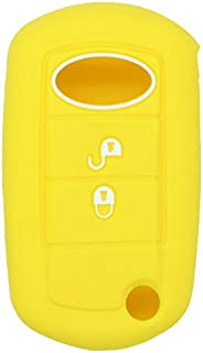 SEGADEN Silicone Cover Protector Case Skin Jacket fit for LAND ROVER 2 Button Flip Remote Key Fob CV2702 Yellow