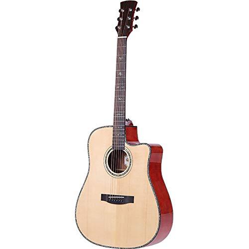 NUYI 41-Zoll-Okuman-Fichte-Furnier-Gitarre Handgefertigter Anfänger-Lehrer Teaching Guitar
