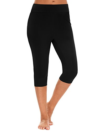 Zeagoo Skinny Shorts Pants Surfing Leggings Swimming Tights,Black,Small