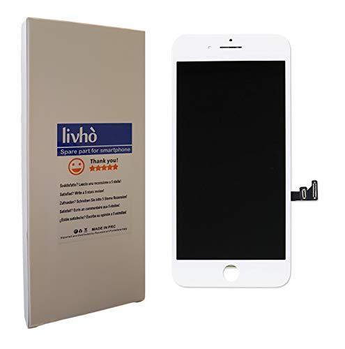 livhò Display bianco compatibile con iPhone 7 Plus / Schermo LCD Retina e Vetro Touch Screen