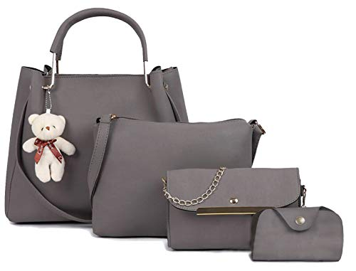 Fargo Women's Handbag (Set of 4, Grey)