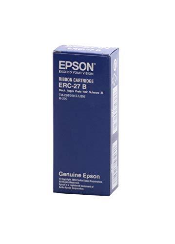 Epson ERC-27B Nastro per stampante - Nastro per stampanti a matrice (Epson M-290 TM-290, 290II, 295, Nero)