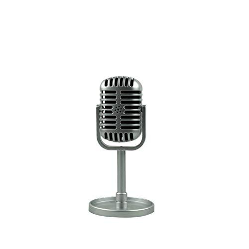 WSGYX Microfono PC USB Retro Dynamic Vocal Microfono Vintage Style Mic Mic Universal Stand Compatibile Live Performance Karaoke Studio Recording (Color : Silver)