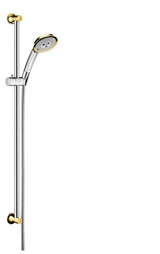hansgrohe Raindance Duschset Classic, 0,90 m, 3 Strahlarten, Chrom/Gold-Optik