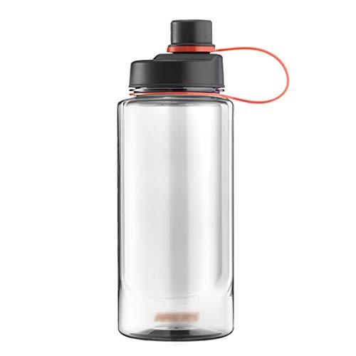 LMG Botella Deportes Botella de Agua de 1 litro / 1.5L / 2L con la manija a Prueba de Fugas Botella de Deportes Frasco sin BPA de Bebidas, for Ejecutar al Aire Libre Gimnasio