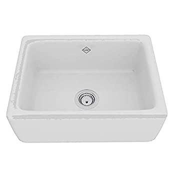 Rohl RC2418WH FIRECLAY KITCHEN SINKS 24-Inch by 18-Inch by 10-Inch White