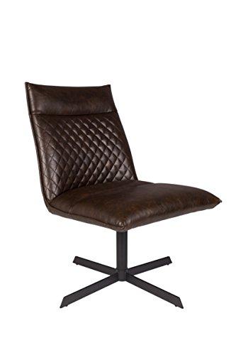 Felis Lifestyle Silla Ivar, Piel sintética, marrón, 70,5x 58x 68,5cm