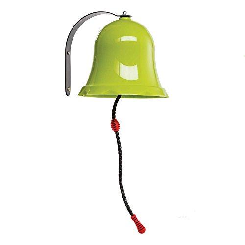 Gartenpirat Glocke apfelgrün aus PP/ Metall für Kinder aussen