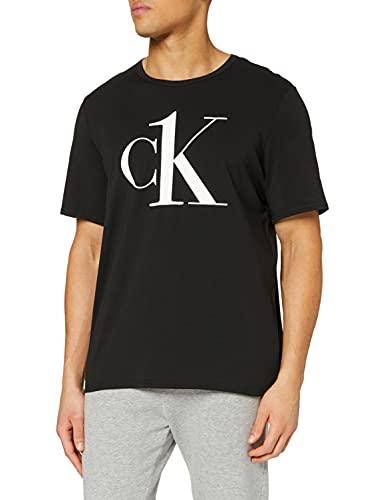 Calvin Klein S/s Crew Neck Top de Pijama, Negro (Black 3WX), XL para Hombre