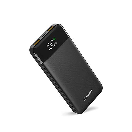 Charmast Powerbank 10400mah Bateria Externa Quick Charge 3.0 USB C Power Delivery Digital Display Cargador Portátil Micro USB Type C para iPhone X/XS/8/7/6,Huawei,Samsung Tablet