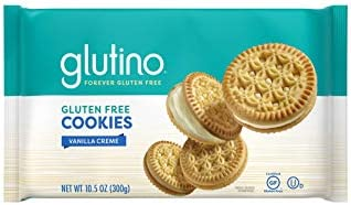 Gluten Free by Glutino Vanilla Creme Cookies, Decadent Cookie,10.5 Ounce