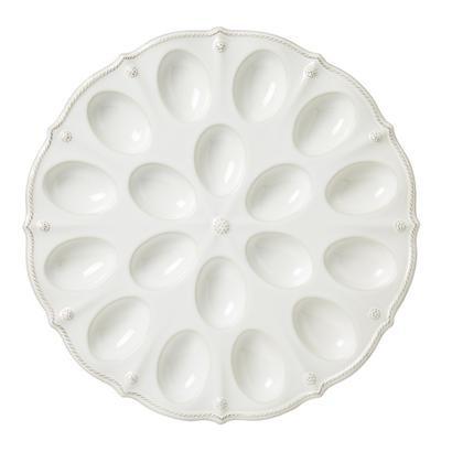 Juliska Berry and Thread Whitewash Deviled Egg Platter