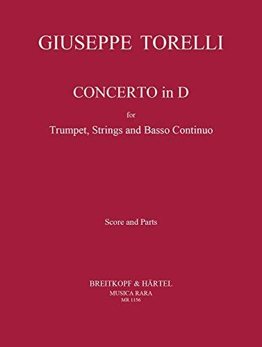 Concerto in D für Trompete, Str, Bc - Partitur und Stimmen (MR 1156)