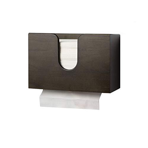 Dispensador de Toallas de Papel, Soporte de Toallas de Papel para Cocina, baño, Inodoro de hogar y dispensador de Toallas de Papel comerciales (Negro)