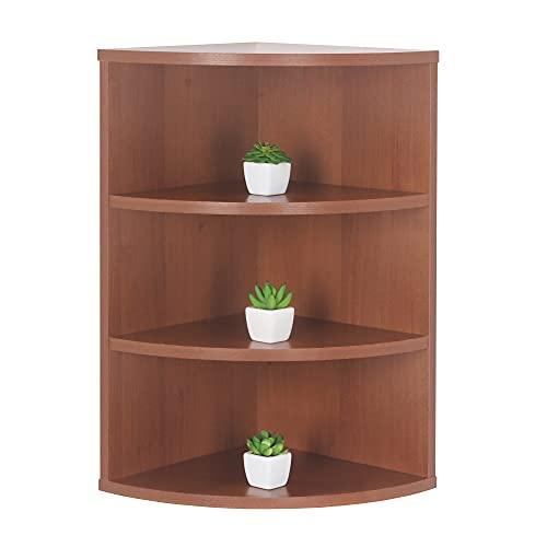 RICOO WM053-ER Estantería Esquina 60 x 33 x 33 cm Estante esquinera Librería Moderna Muebles de hogar Mueble almacenaje Madera Color Roble marrón