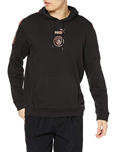 PUMA Man City ftblCULTURE Herren Fußball Hoodie Puma Black-Copper XL